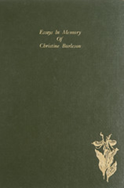 Essays in Memory of Christine Burleson book cover